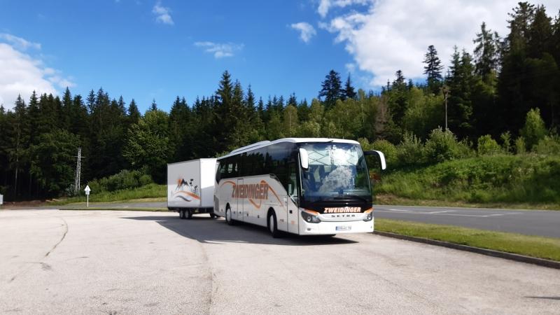 Bus unterwegs im Böhmerwald